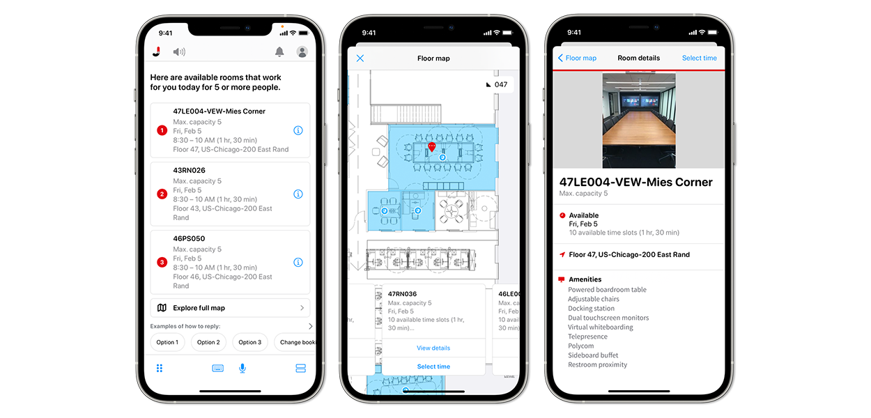 JLL Jet room booking and management app