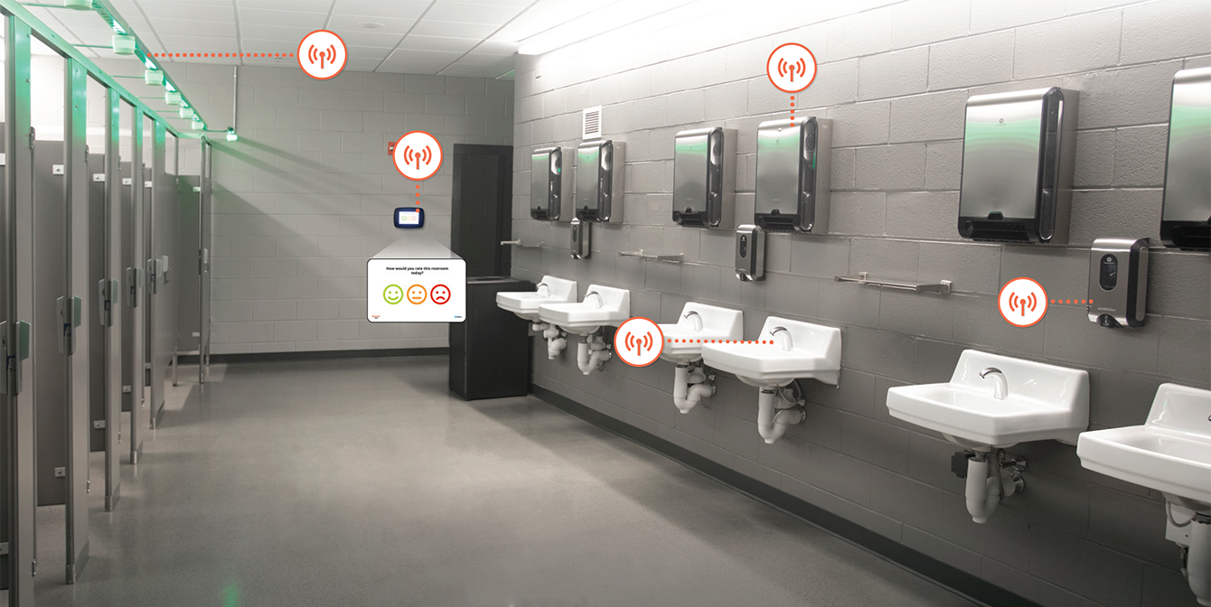 touchless technology bathroom facilities
