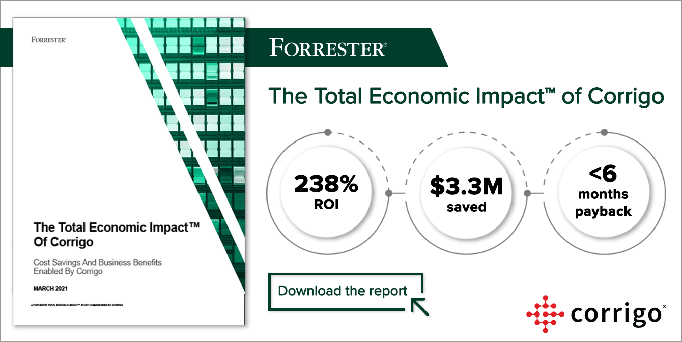Forrester TEI of Corrigo report